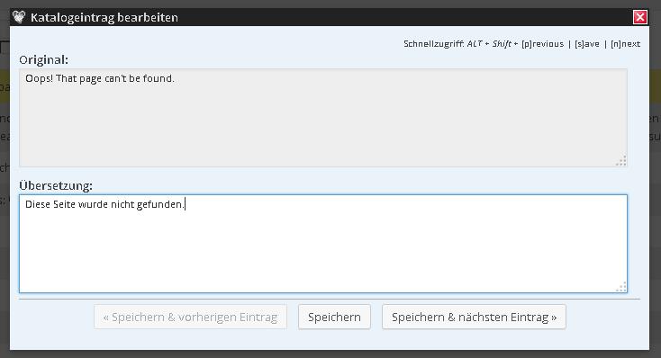 Einfache Übersetzung mit Codestyling Localization